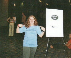 My daughter is THE next American Idol. (Photo by Terry Byrne, Copyright 2004_