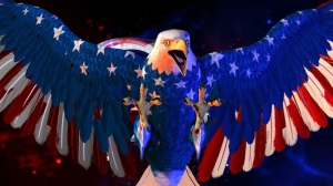 """Beirne Lowry's eagle used in the opening titles of Comedy Central's """"The Colbert Report."""""""