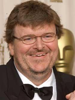 Michael Moore, on Oscar night.