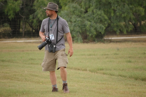 Matt Fraker, a manic birder.